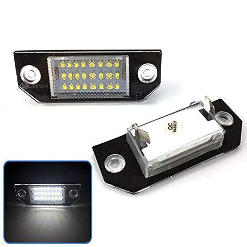 LanLan 2pcs / Set LED éclairage de Plaque d'immatriculation pour Ford Focus C-Max MK2 03-08