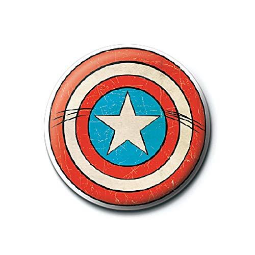Captain America Schild Logo Taste Abzeichen Stift Retro ()