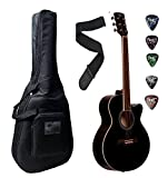 acoustic beginner guitar Padded Case, Bel and Plectrums