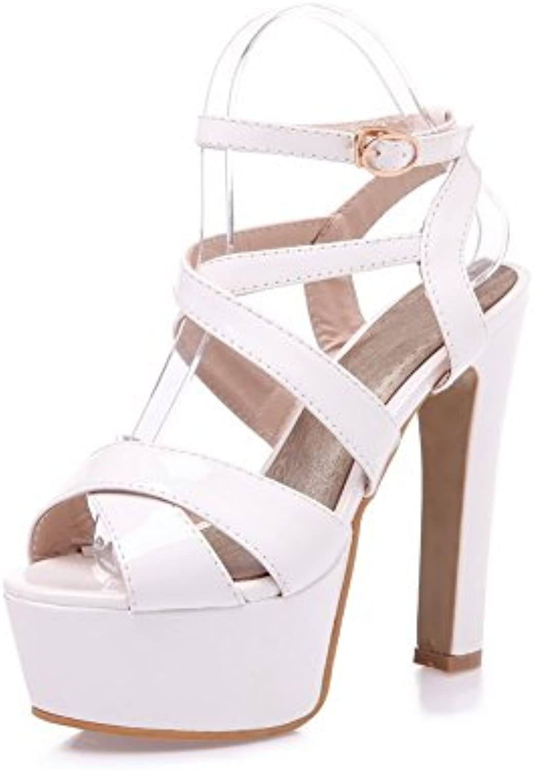 Adee Ladies cross-body-strap high-heels Poliuretano Sandalias -