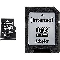 Intenso Professional microSDHC UHS-I Class 10 16GB Speicherkarte inkl. SD-Adapter (bis 90Mbps) schwarz