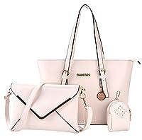 Damen Handtaschen, Coofit Schultertasche Set Hobo mit Crossbody Messenger Bags und kleinen Geldbeutel