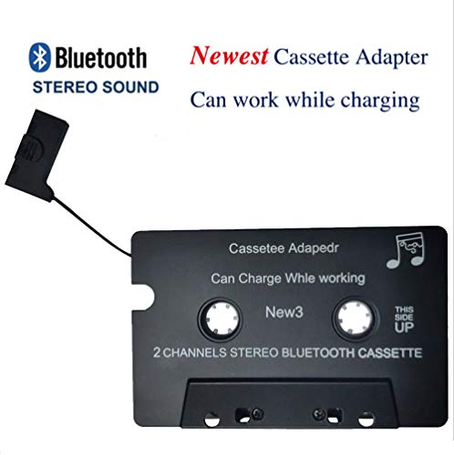 Kabelloser iTape Adapter für Kassettenrecorder Läuft Während dem Laden Bluetooth V4.0 + EDR Stereo-Audio-Empfänger-Adapter für Auto (Bluetooth Wireless-kassette)