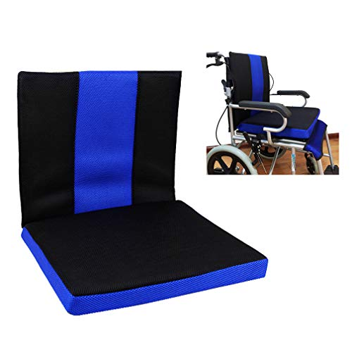 Komfort-rollstuhl-sitzkissen (HRRH Rollstuhlkissen, Anti-Dekubitus Waben Kissen Atmungsaktiven Komfort Zurück Oxford Tuch Material Rollstuhlkissen, (16 * 17,7 * 1,6 Zoll))