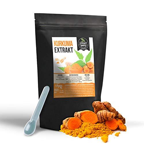 Kurkuma EXTRAKT | 95% Curcuminoiden | 100g PULVER | organic extract powder | ohne Zusatzstoffe und laborgeprüft | hochdosiert, vegan & in Deutschland abgefüllt (Pulver 100g)