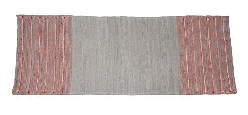Kanyoga Rosa and Grigio Meditazione Cuscino Cotone mat(183cm x 61cm), 1 Pezzo