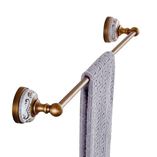 Weare Home Badezimmer Zubehür Einzeln Handtuchstange Handtuchhalter aus Messing Antik Vintage Retro...