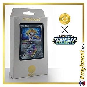 Jirachi 97/168 Holo Prisma - #myboost X Soleil & Lune 7 Tempête Céleste - Box de 10 Cartas Pokémon Francés