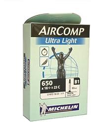 Michelin Shimano Cámara, 650 x 18-23c, válvula de 60 mm, Multicolor, M