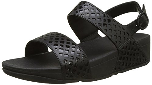 Fitflop Safi Tm Strap, Sandali con Tacco Donna, Nero (all Black Leather), 38 EU
