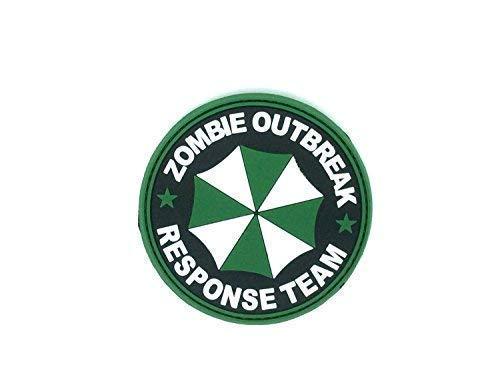 Zombie Outbreak Response Team Regenschirm PVC Airsoft Klett Patch Grün (Zombie-klett-patch)