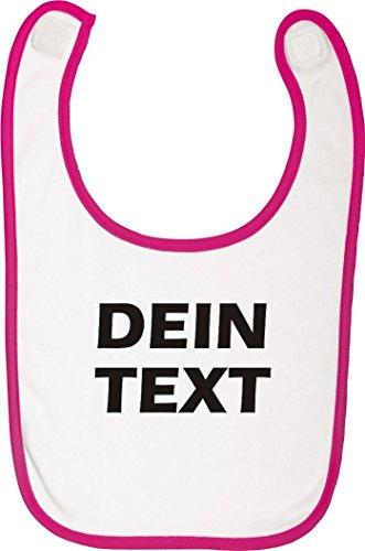 Shirtstown Babylatz individuell mit deinem Wunschtext versehen ideal für jede Pullerparty, Farbe rosa