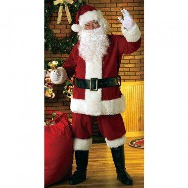 Deluxe Samt Santa-Kostüm für Erwachsene