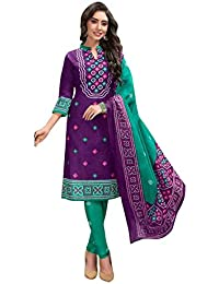1480a916273a63 Amazon.in  Cotton - Dress Material   Ethnic Wear  Clothing   Accessories