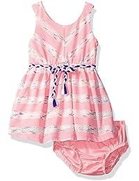 Kensie Baby Girls' Sleeveless Fashion Stripe Knit Dress