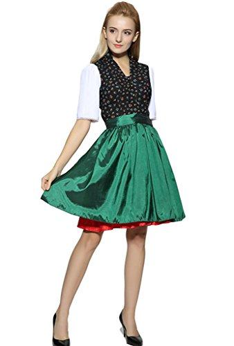 Judi Dench@ Damen Dirndl Midi, Dirndl 2tlg,Trachtenkleid ,(Dirndlkleid und Dirndl-Schuerze), Groesse (Ziel Braut Kostüm)