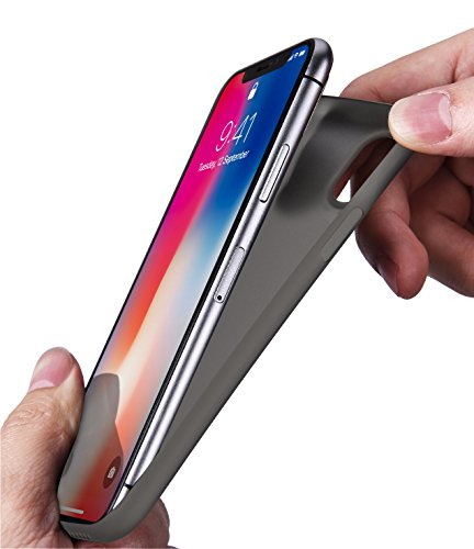 iPhone X Hülle, TOZO PP[0.35mm] Slim Extra Dünn Hard Hardcase [Halb Transparent] Schutzhülle für iPhone 10 / X Case Cover(Matt schwarz) Matt schwarz