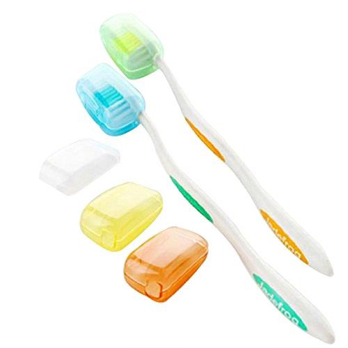 Wicemoon 5 x Etui de Protection de la Tete de Brosse a Dents Portable en Plastique pour Le Voyage