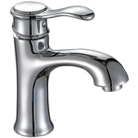 DDY Bathroom Single Lever Chrome Mono Basin Sink Mixer Hot