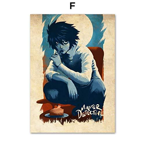 XWArtpic Japanischen Anime Naruto Dragon Ball Piratenkönig Overlord Pikachu Vintage Poster Wandkunst Leinwand Malerei Poster Und Drucke Bilder Kinderzimmer Dekor F 50 * 70 cm