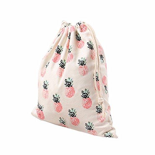 Handtasche Rucksack Tasche Ananas Druck Balken Port Speicher Reisetasche Geschenktüte Von Xinan (M, Rosa) -