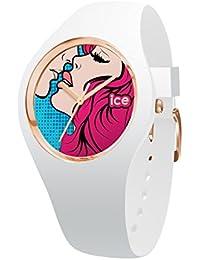Ice-Watch - ICE love Kiss - Weiße Damenuhr mit Silikonarmband - 015266 (Medium)