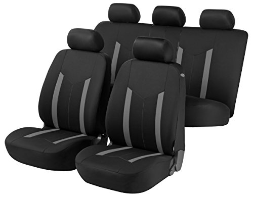 züge für Pickup Version (1987-2007) passend für Sitze mit Airbag, Laterale Armlehne Rücksitzbank Sitzbank Sitzbank Rücksitzbank Schwarz Grau R18S0593 ()