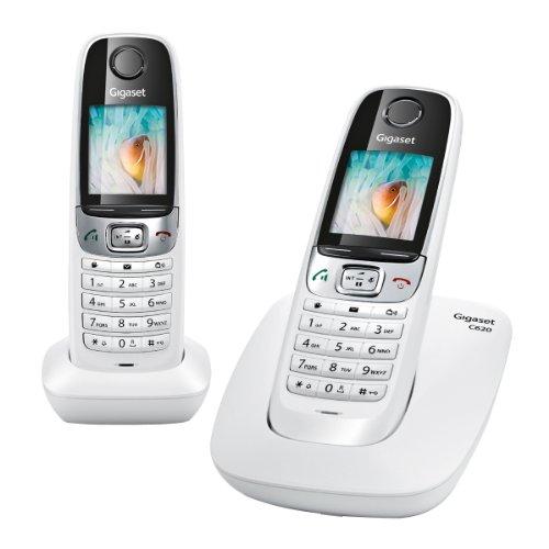Gigaset C620 DUO Schnurlostelefon (Französische Variante, Anschluss für das französische Telefonnetz) weiß