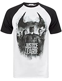 Justice League Character Line Up Raglan Men's T-Shirt