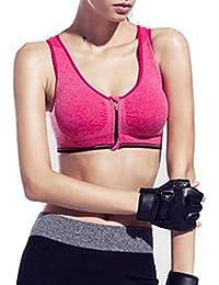 Demarkt Femme Sexy Soutiens Gorge de Sport Yoga Soutiens Push up Bra Lingerie Brassière Vest