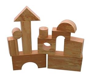 Edushape - Juguete de construcción de espuma (aspecto de madera, 80 piezas)