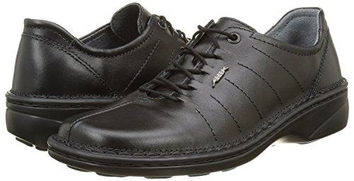 Abeba Femme Chaussures de travail Chaussures 6910professionnelle en cuir noir antidérapant antistatique CE en ISO 20347: 2012O1SRC Noir