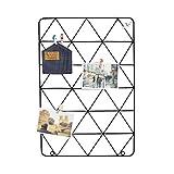 Memotafeln Cadre photo en fer avec cadre décoratif et cadre en mesh facile à prismatiques 53 x 36 cm