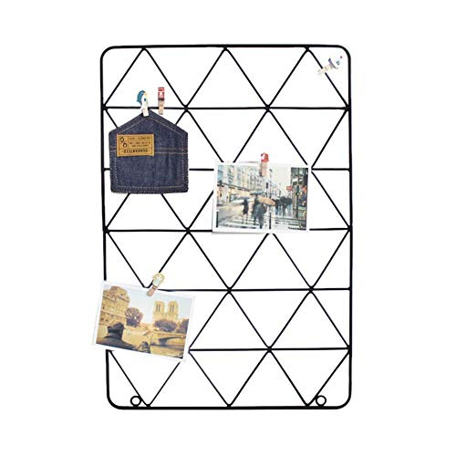 Grid Mesh Display Panel Dekorative Eisen Rack Clip Foto Wandbehang Bild Dekoration Rahmen Fotografie Requisiten 20,87 * 14,17 inch Nordic INS Stil von Biback (Grid-display-panels)