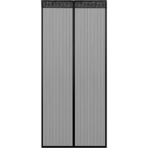 Anpro Fliegengitter Tür Moskitonetz Tür 100 x 220CM Insektenschutz Magnet Vorhang Fliegenvorhang für Balkontür Wohnzimmer, Schwarz, EINWEG