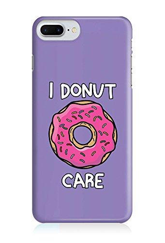 COVER Donut care Essen food lila Design Handy Hülle Case 3D-Druck Top-Qualität kratzfest Apple iPhone 7 Plus (3d-food)