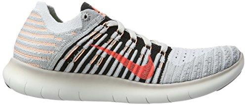 Nike Free Rn Flyknit, Scarpe Sportive Indoor Donna Grigio (Wlf Gry/black-brt Mng-pr Pltnm)