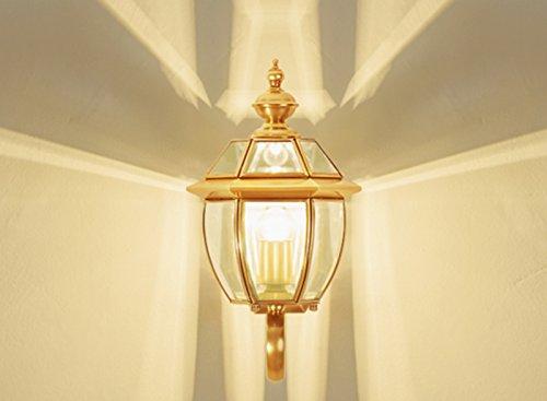Balcon Couloir Escalier étude européenne Retro Lamps cuivre et Lanternes américaine Applique extérieure étanche Courtyard Lampe simple