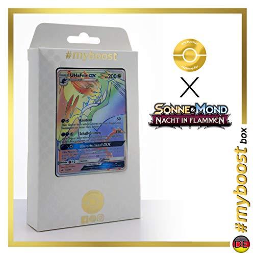 UHaFnir-GX (Noivern-GX) 160/147 Arcoíris Secreta - #myboost X Sonne & Mond 3 Nacht in Flammen - Box de 10 Cartas Pokémon Aleman