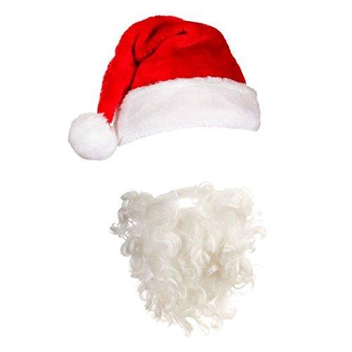 Erwachsenen Santa Mütze & Bart Weihnachten Fancy Dress Zubehör