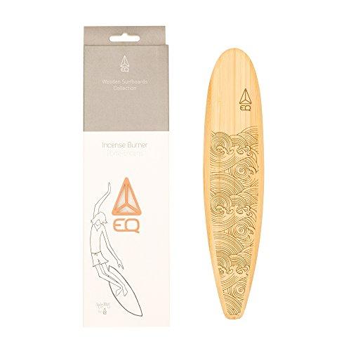 Räucherstäbchenhalter Surf aus Holz–Longboard + 2Sticks Packung