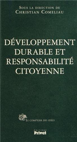 Développement durable et responsabilité citoyenne