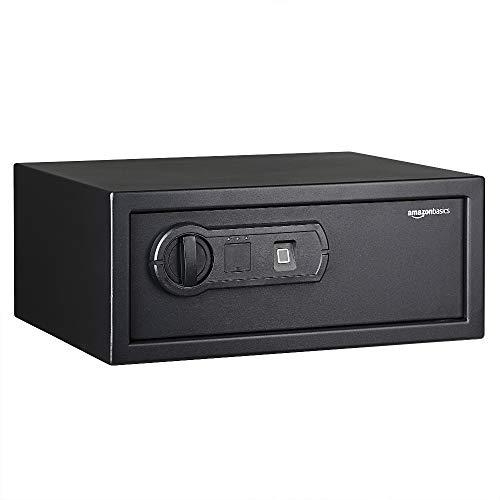 AmazonBasics - Caja fuerte con lector biométrico de huella dactilar - 19...
