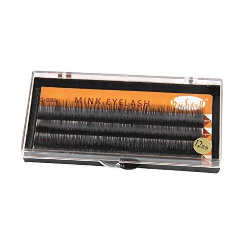 1 Boîte de Faux-cils Individuel Extensions de Cils Noir 12mm