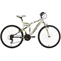 "KS Cycling Zodiac VTT Tout Suspendu Blanc/Vert 26"""