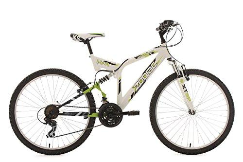 KS Cycling Zodiac VTT Tout Suspendu Blanc/Vert 26'