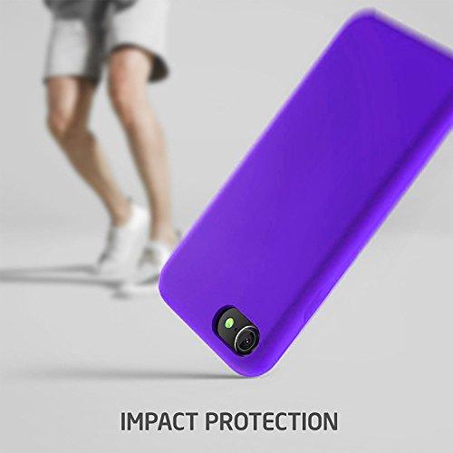 "First2savvv iPhone 7 4.7. iPhone 8 4.7 "" Stoßdämpfende Hülle Case Schutzhülle Silikon Case Durchsichtig iphone 7 -XJPJ-I7-4.7-C02 lila Silikon Hülle-4.7"