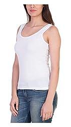 Tank Top Vest Camisole Sando Sllim Fit for Women Girls White Color Medium Size