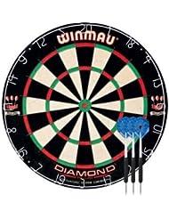 Winmau DIAMOND PLUS Diana y Deluxe dardos, incluye un juego de dardos de Winmau Deluxe, tamaño: 5cm,, W45cm, D5cm.