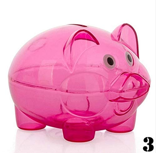 ank Coin Money Plastic Cash Openable Saving Box Kid Pig Gift C ()